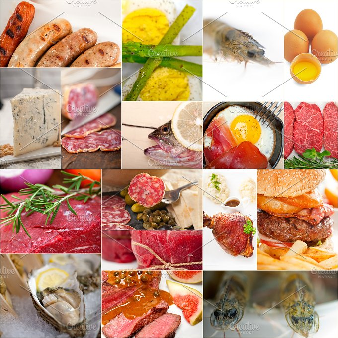 high protein content food collage 8.jpg - Food & Drink