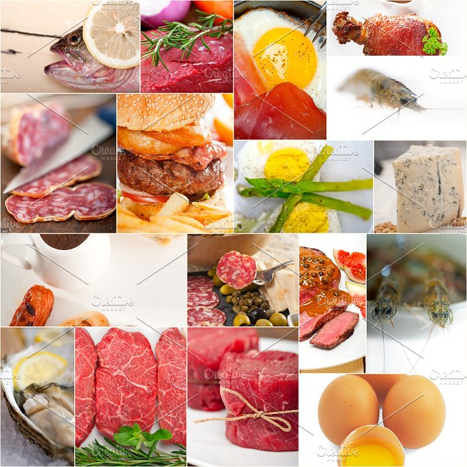 high protein content food collage 12.jpg - Food & Drink