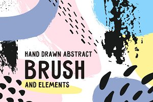Abstract brushes, elements, card