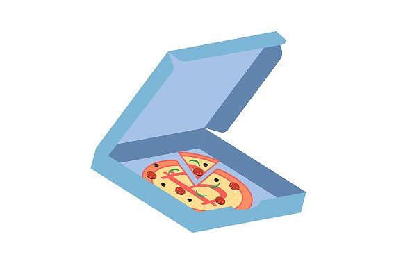 Pizza With Bitcoin Symbol