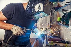 A man welder