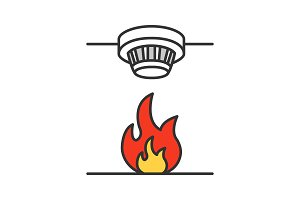 Smoke detector color icon