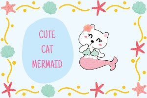 Cute Cat Mermaid.