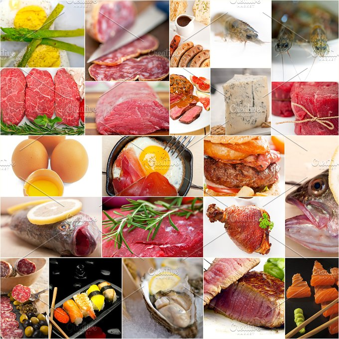 high protein food collage 8.jpg - Food & Drink