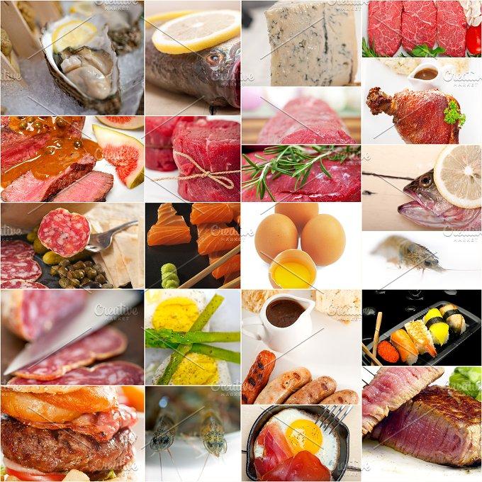 high protein food collage 10.jpg - Food & Drink