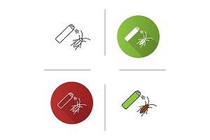 Roaches bait icon