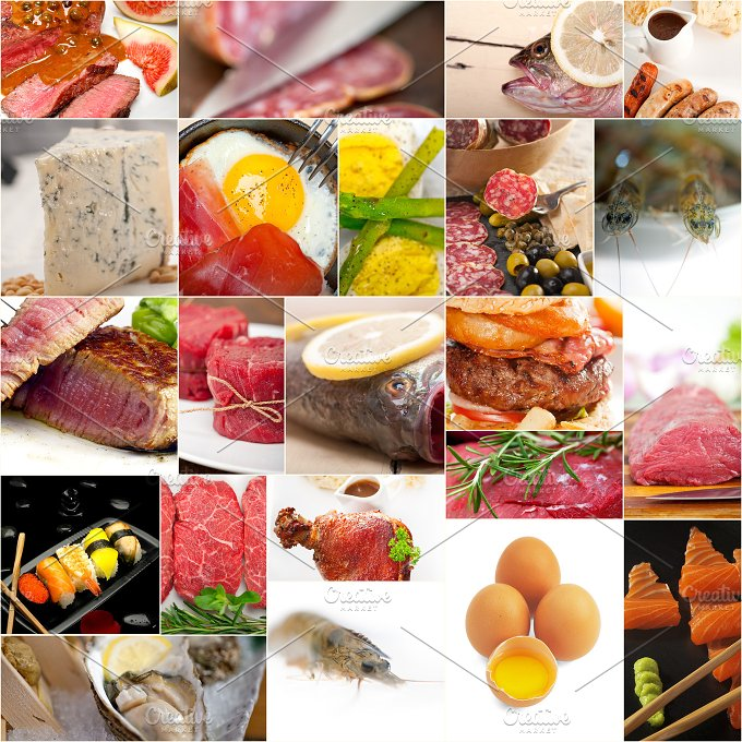 high protein food collage 11.jpg - Food & Drink