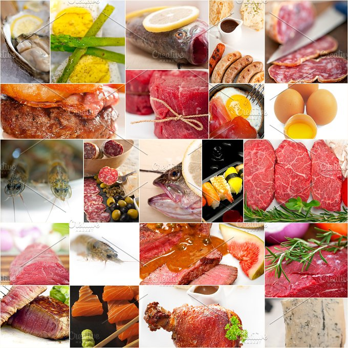 high protein food collage 15.jpg - Food & Drink