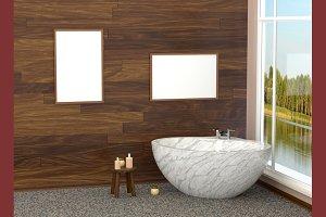 Luxurious white modern bath