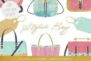Bag & Label Clipart Set