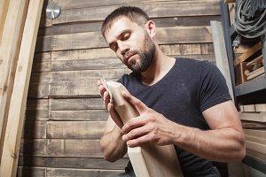 Carpenter polish  wooden board