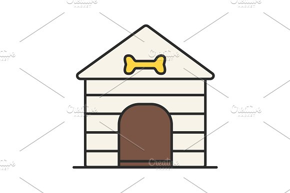 Dog's House Color Icon
