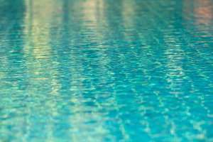 Transparent pool water