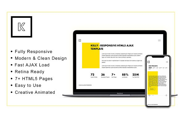 Kelly Responsive HTML5 Theme 2018