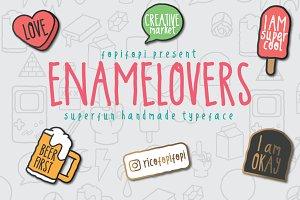 ENAMELOVERS typeface + Bonus
