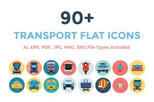 90+ Transport Flat Icons