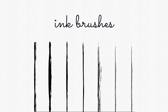 Handdrawn Ink Brushes Photoshop in Add-Ons - product preview 2