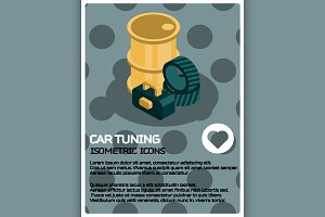 Car tuning color poster