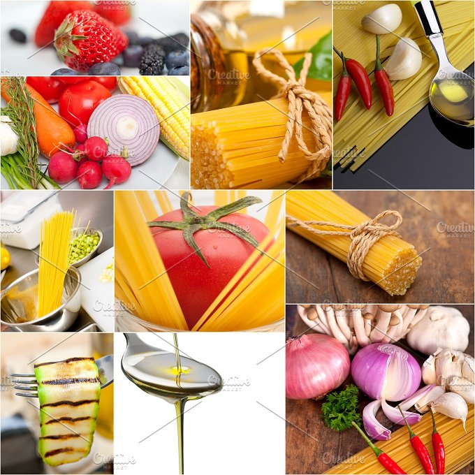Italian food ingredients collage 9.jpg - Food & Drink