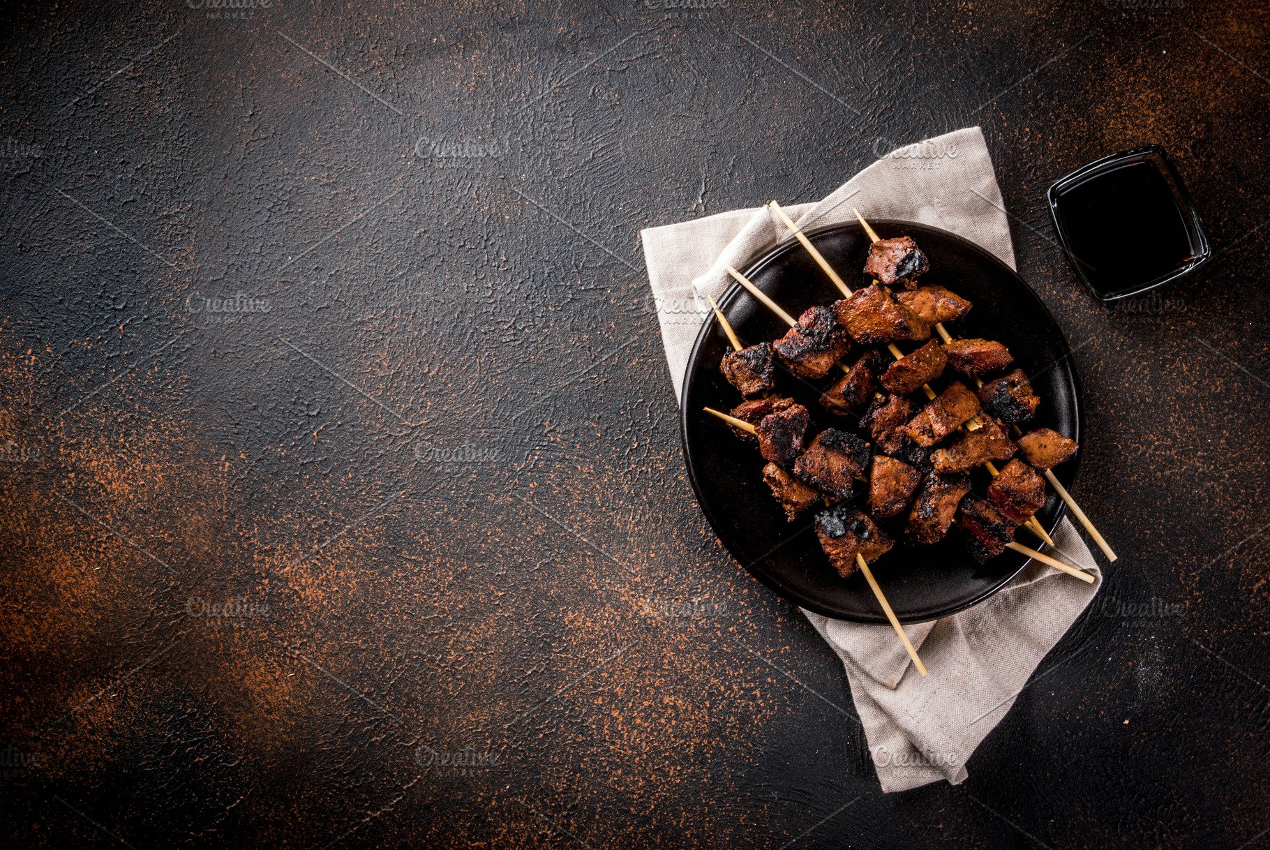 Grilled Beef Liver On Skewers