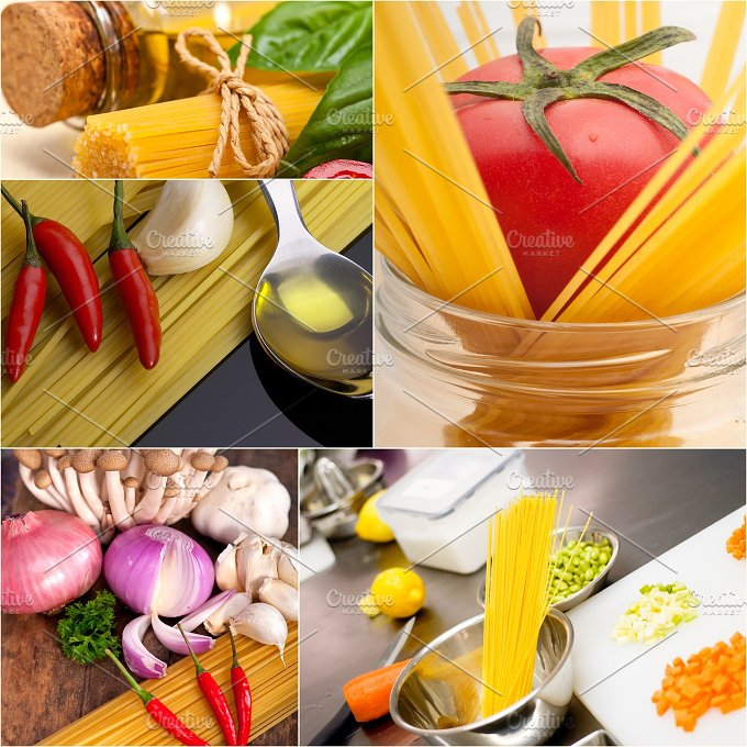 Italian food ingredients collage 22.jpg - Food & Drink