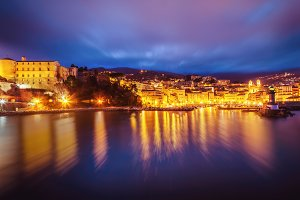 Bastia at night
