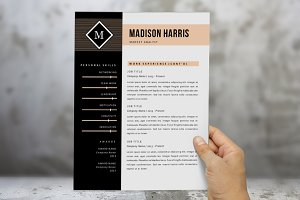 Orange diamond 2 p resume pack