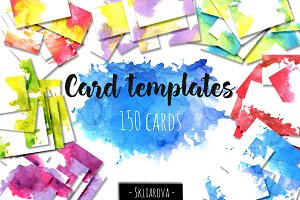 Card templates big collection.