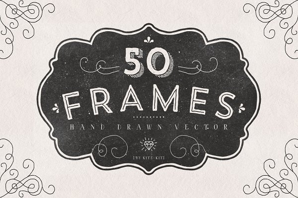FRAMES. Hand drawn vector.