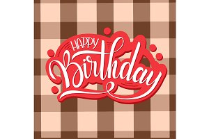Happy Birthday Greeting Card Retro
