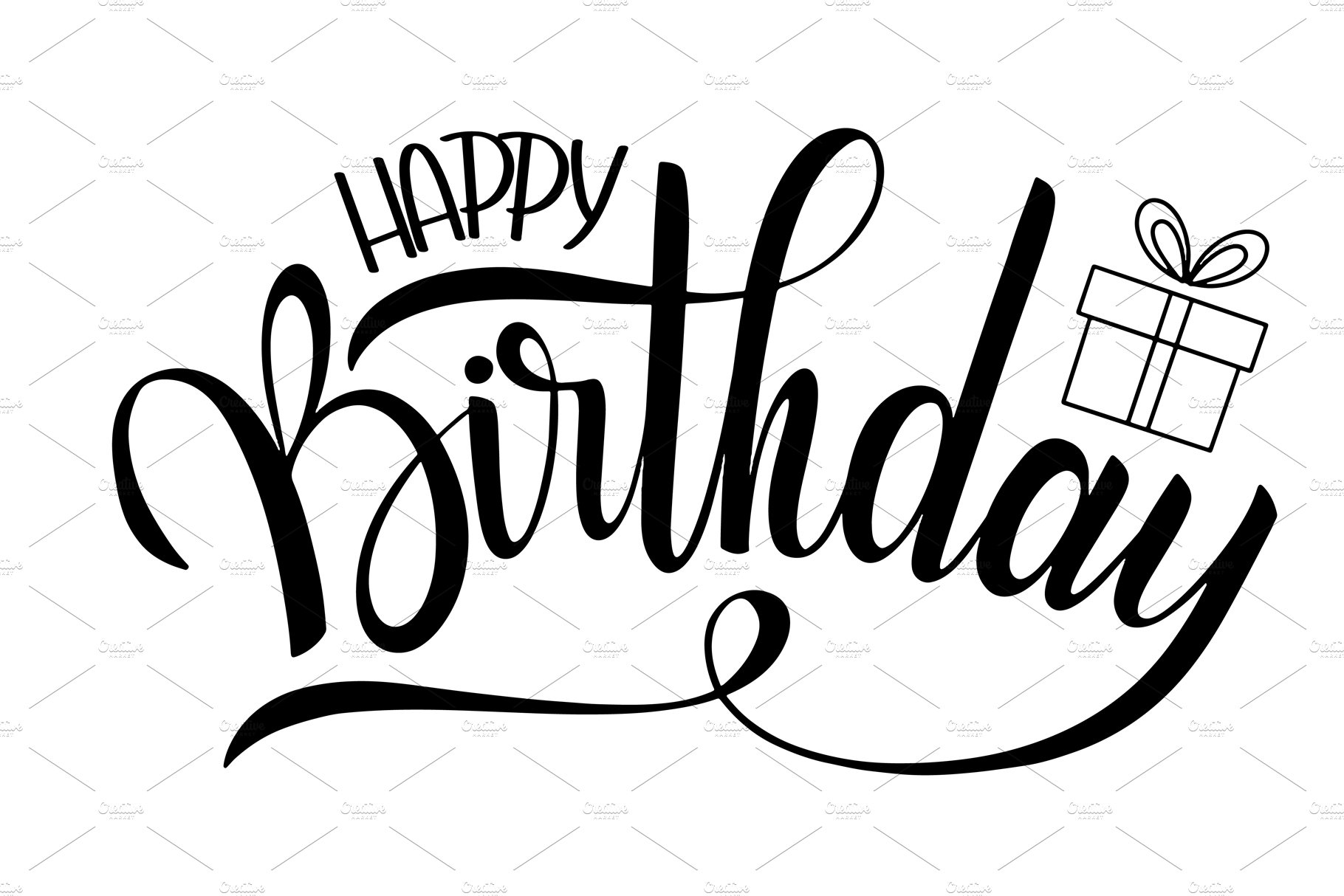 Happy Birthday Greeting Card ~ Postcard Templates
