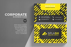 Corporate Yellow Business Card