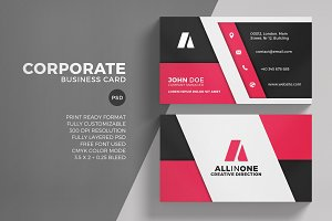 Corporate Red Business Card Template