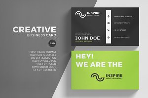 Green Corporate Business Card