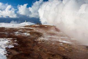 Geothermal hot springs at Gunnuhver