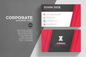 Corporate Red Business Card