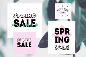 Spring Sale graphic bundle 90s style