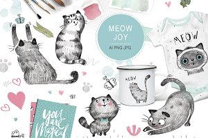 MEOW JOY (graphic pack)