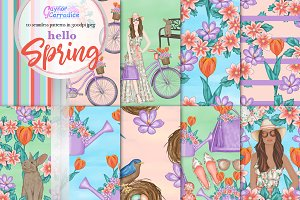 Hello Spring pattern collection