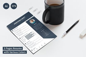 CV/Resume Template (3 Pages)