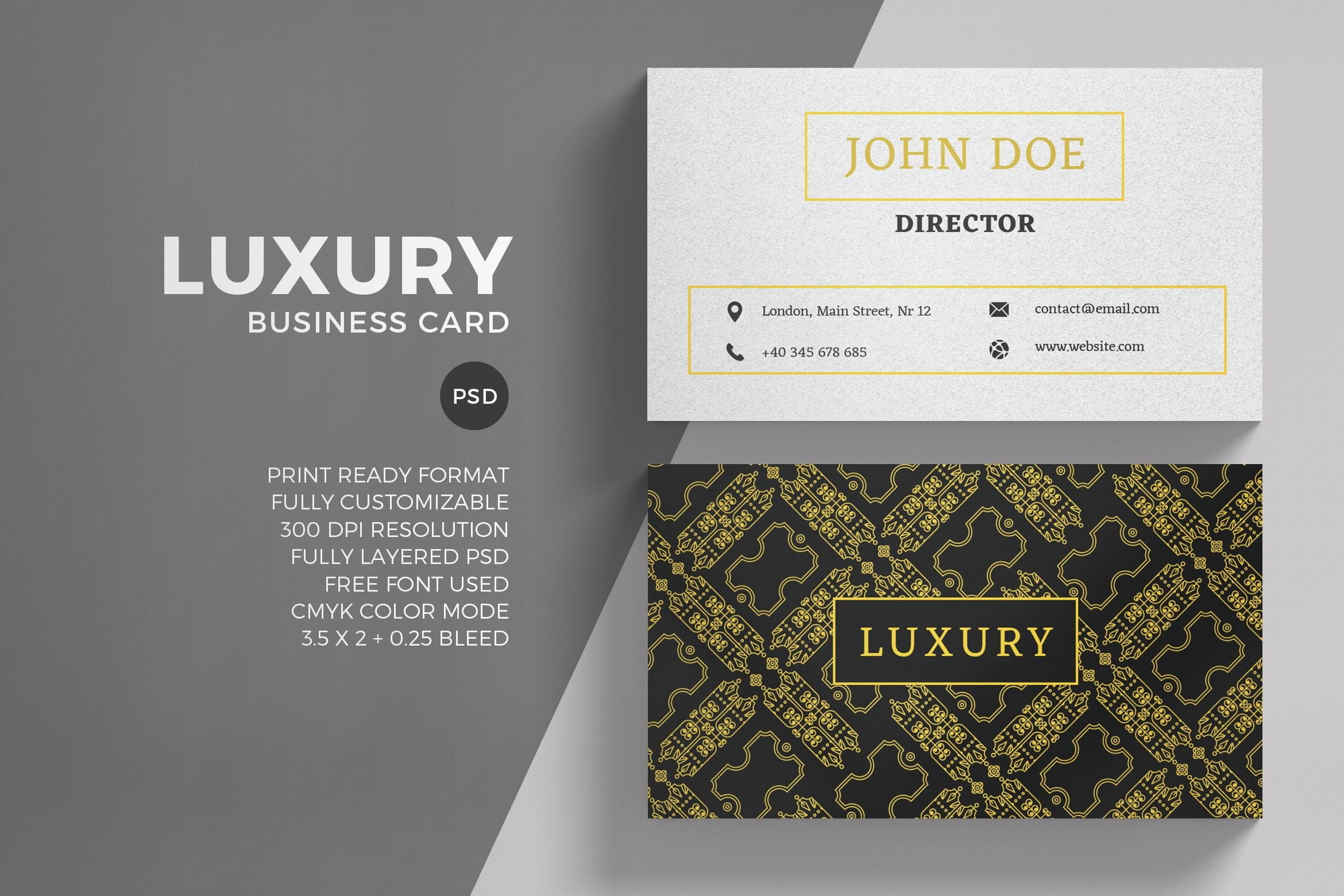 Luxury Business Card Template ~ Business Card Templates ~ Creative ...
