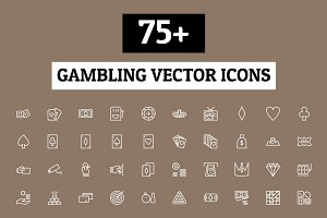 75+ Gambling Vector Icons