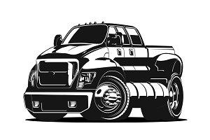 Cartoon vector pick-up
