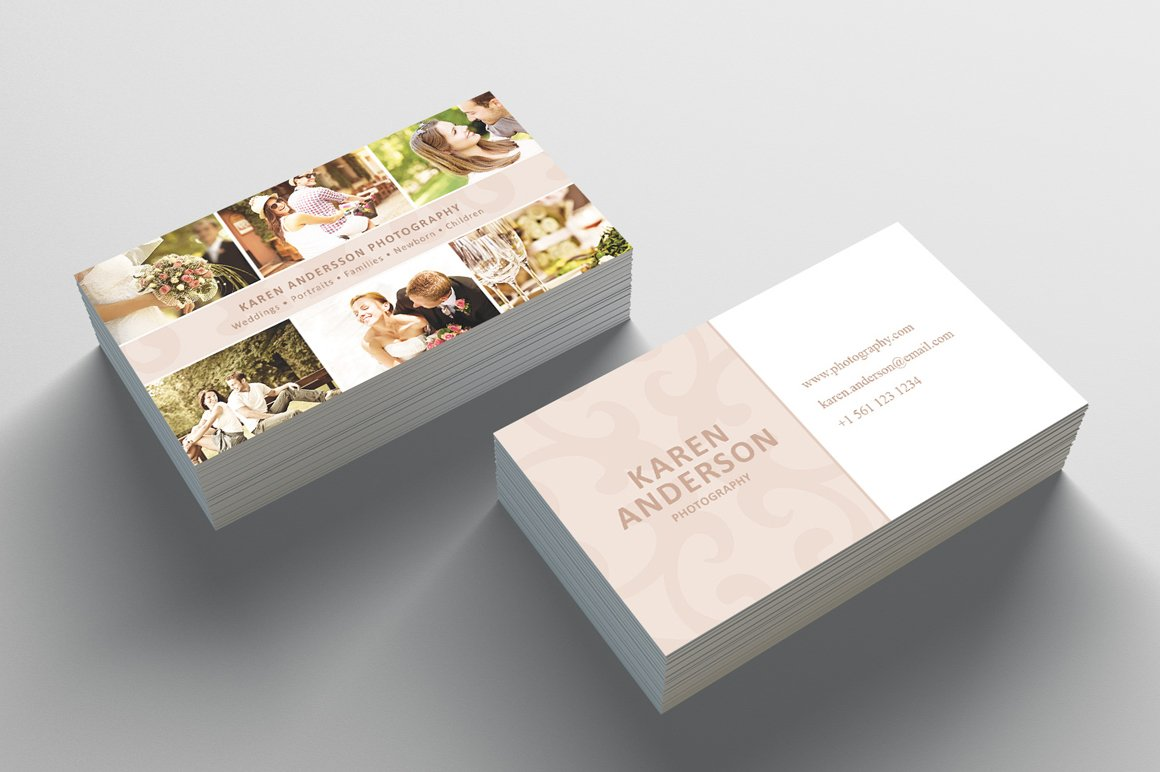 photography business card business card templates creative market - Photography Business Cards