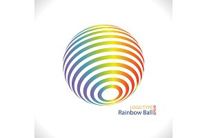 Rainbow ball logo