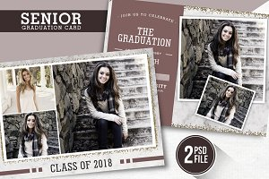 Senior Graduation Card Template