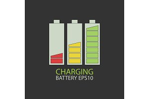 Collection charging battery.