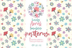 Lovely floral seamless patterns