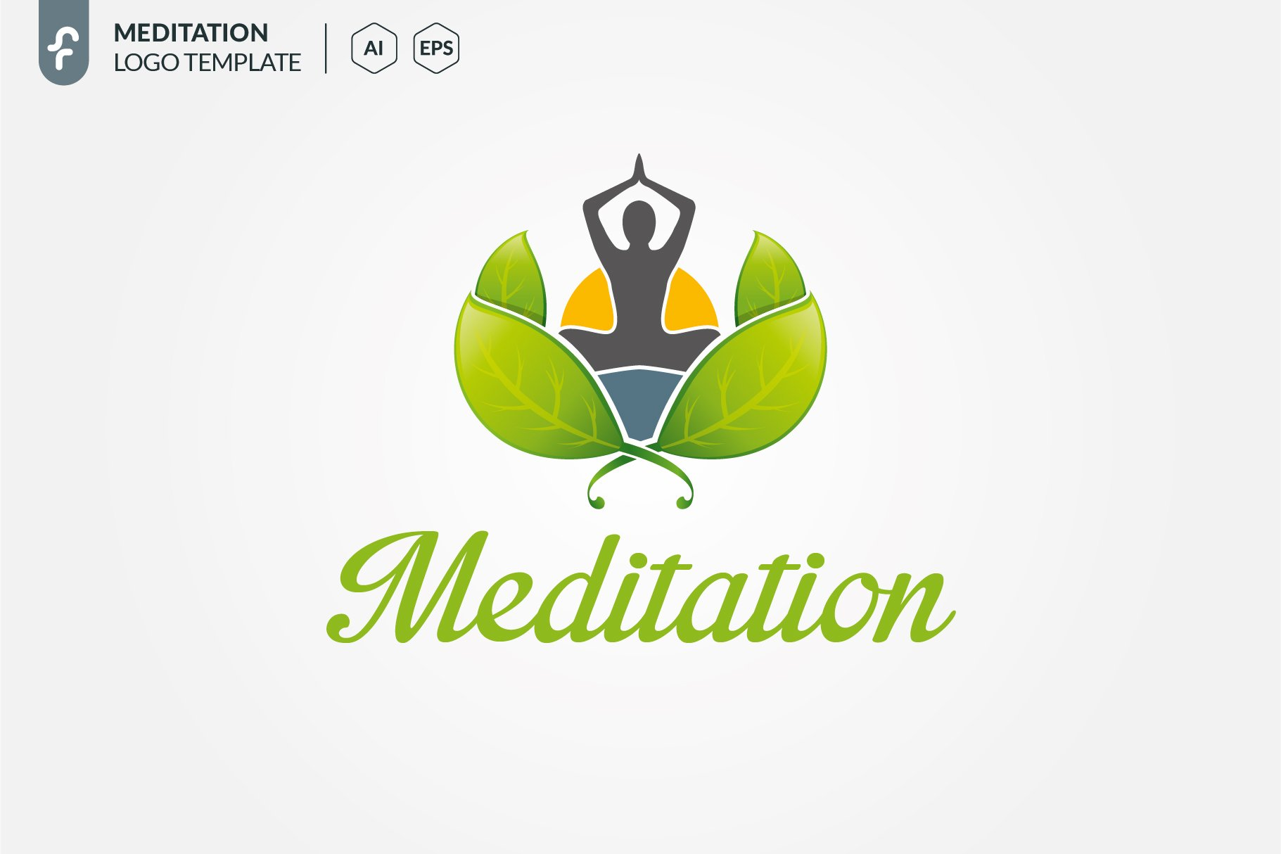 meditation logo creative illustrator templates creative market meditation logo creative illustrator