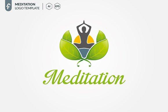 meditation logo logo templates creative market